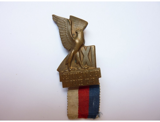 Československo - odznak XI. Všesokolský slet v Praze 1948