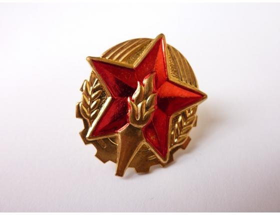 Československo - odznak na hasičskou čepici, originál