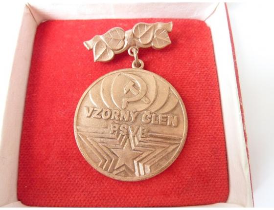 Československo - odznak Vzorný člen Pomocného sboru veřejné bezpečnosti