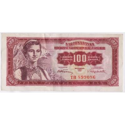 Jugoslawien - 100 Dinar 1955
