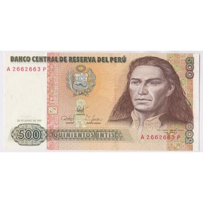 Peru - 500 intis 1987