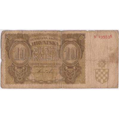 Chorvatsko - 10 kuna 1941
