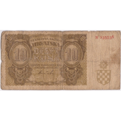 Kroatien - 10 Kuna 1941
