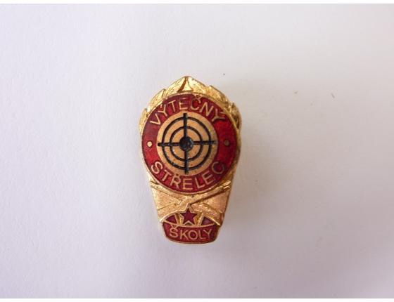 Československo - odznak Výtečný střelec, školy