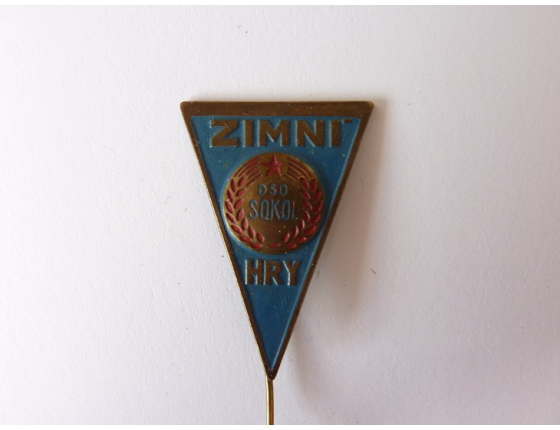 Československo - odznak Sokol zimní hry