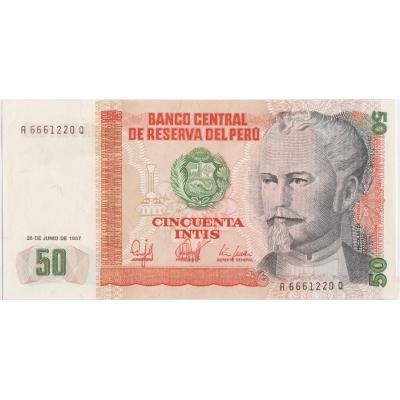 50 Intis 1987 Peru