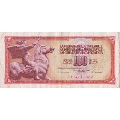 Yugoslavia - 100 dinars 1986
