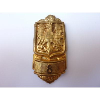 Československo - Ramenní odznak hasiče, Hasičská župa č. 8 - Hasičská župa Olomoucko-Šternberská, 1. republika, originál