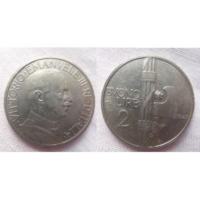 Italské království - 2 liry 1923 R