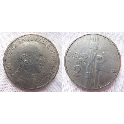 Italy - 2 liras 1923 R