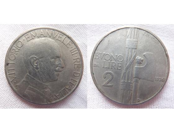 Itálie - 2 liry 1923 R