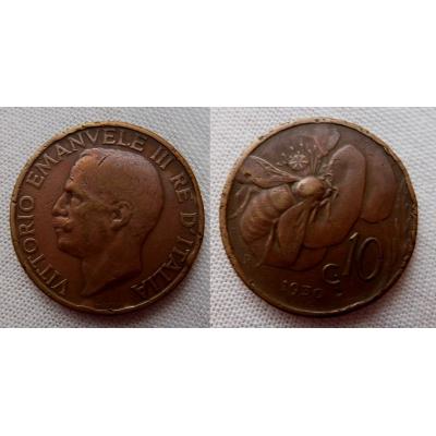 Itálie - 10 centesimi 1930 R