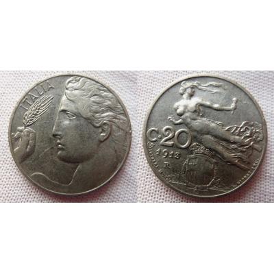 Italské království - 20 centesimi 1913 R