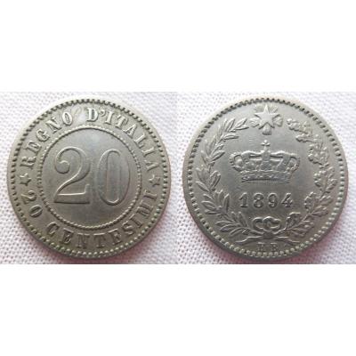 Italien - 20 centesimi 1894 KB