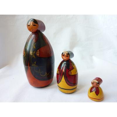 RUSSIAN DOLL antique wooden matryoshka dolls babushka