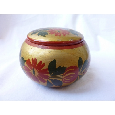 Antique wooden hand-painted Dose Georgia