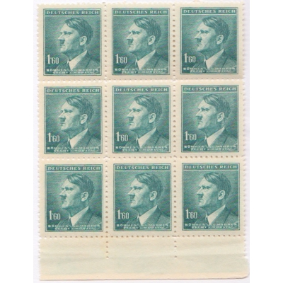 Čechy a Morava - Adolf Hitler, blok známek