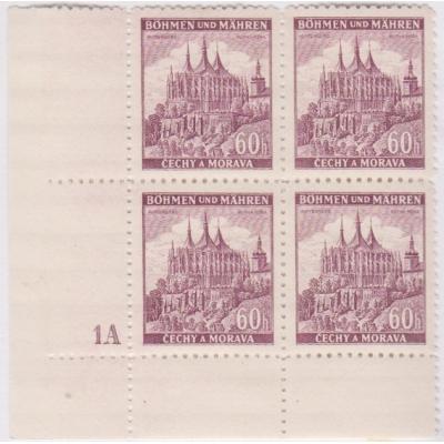 Böhmen und Mähren - Schlösser, Block Briefmarken