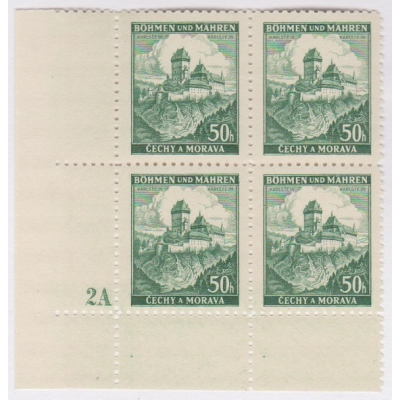 Bohemia and Moravia - Castles, block stamps