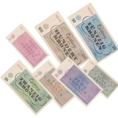 Terezin bills - complete set (7 pieces) UNC