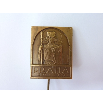 Československo - odznak Milénium svatého Václava, Praha 1929