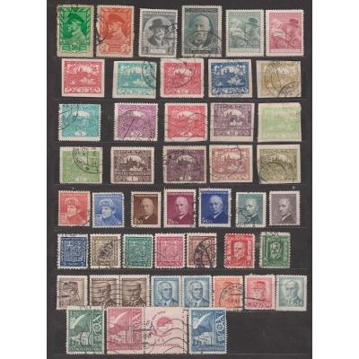 Tschechoslowakei - viele Briefmarken