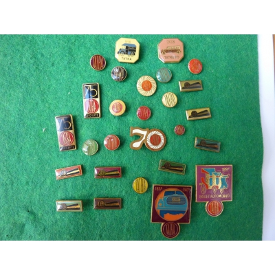 Czechoslovakia - Collection of badges Tatra, 27 pieces