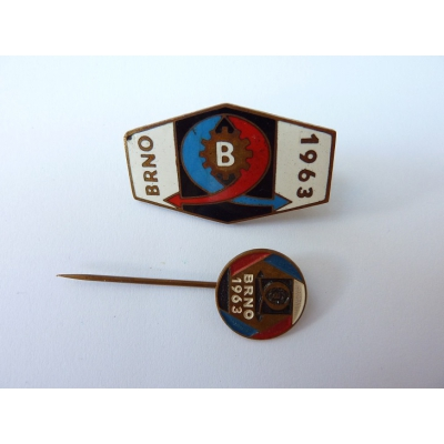 Czechoslovakia - 2x badge International Fair Brno 1963
