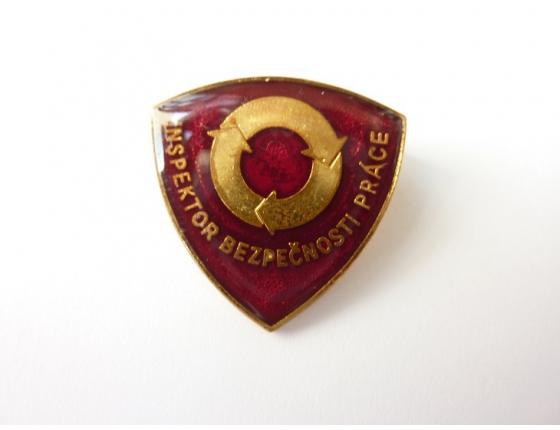 Československo - odznak Inspektor bezpečnosti práce