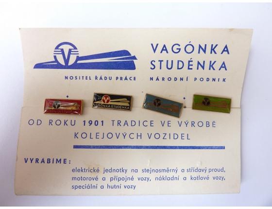 Vagónka Studénka - sada 4 odznaků