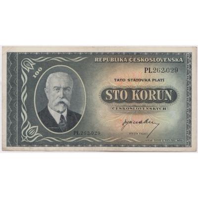 100 korun 1945 T.G. Masaryk