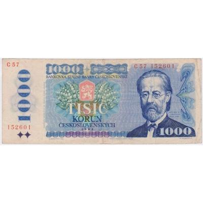 Československo - bankovka 1000 korun 1985