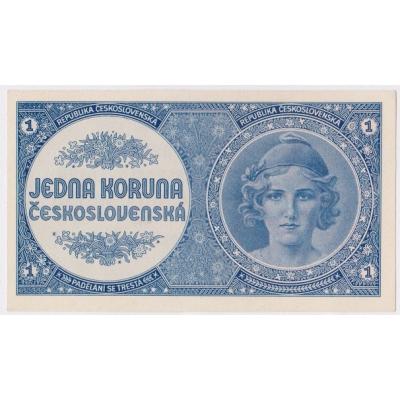 Československo - bankovka 1 koruna 1946 UNC