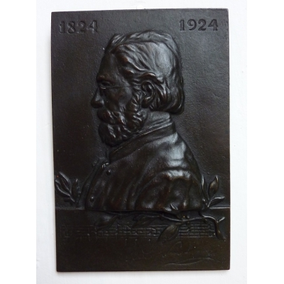 A bronze plaque Bedrich Smetana