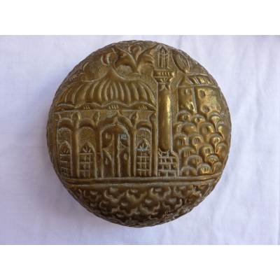 Antique brass jar (ashtray) ORIENT