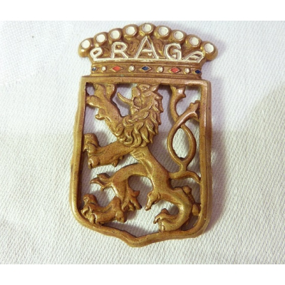 Automotive badge PRAGA