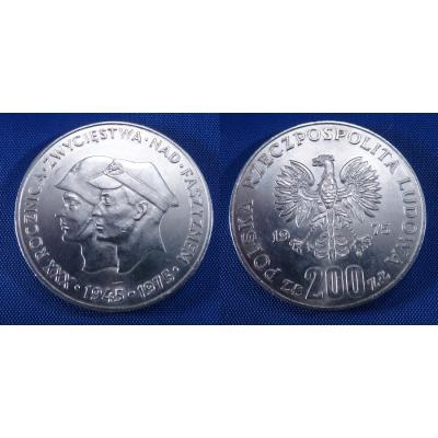 200 zlotych 1975 - 30. výročí vítězství nad fašismem