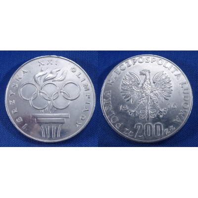 200 zlotych 1976 - XXI. olympijské hry (Kanada - Montreal)