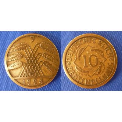 10 rentenpfennig 1924 J