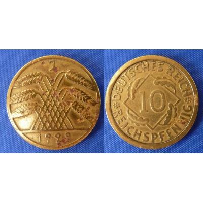 10 rentenpfennig 1929 J