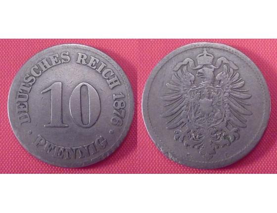 Německo - 10 feniků 1876