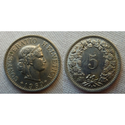 Schweiz - 5 Rappen 1969