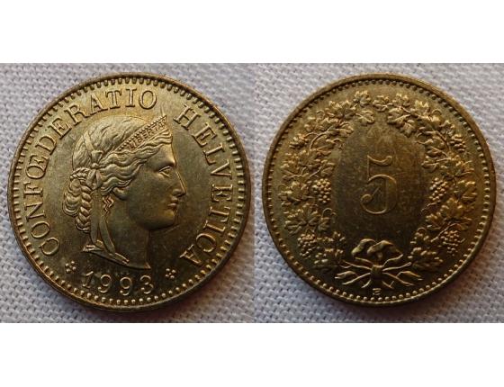 Switzerland - 5 centimes 1993