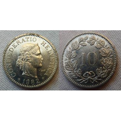 Švýcarsko - 10 rappen 1982