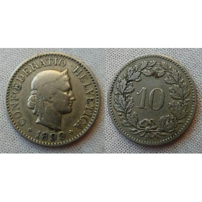 Švýcarsko - 10 rappen 1899