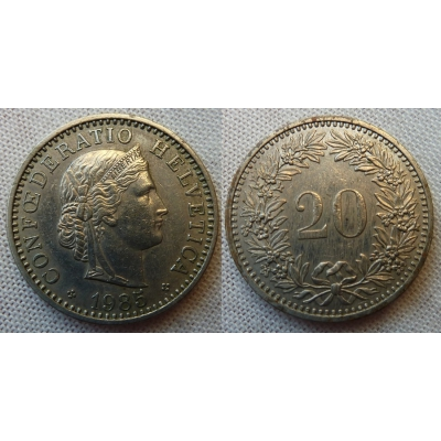 Switzerland - 20 centimes 1985
