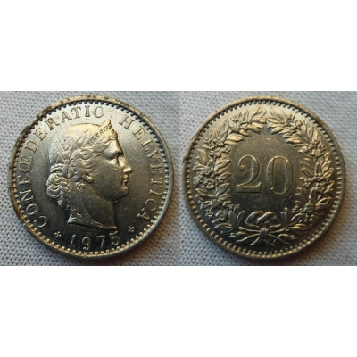 Switzerland - 20 centimes 1975