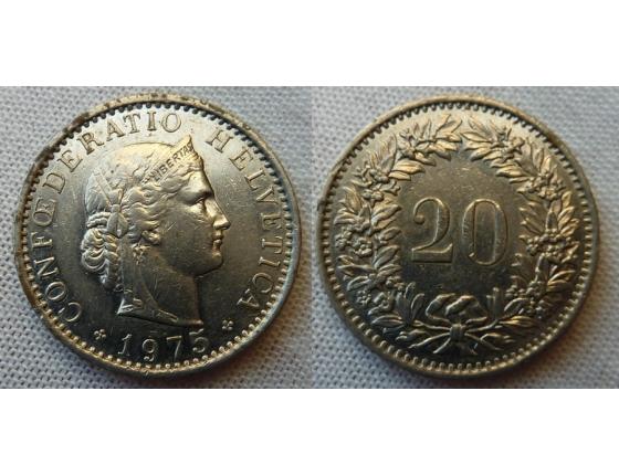 Switzerland - 20 centimes 1975