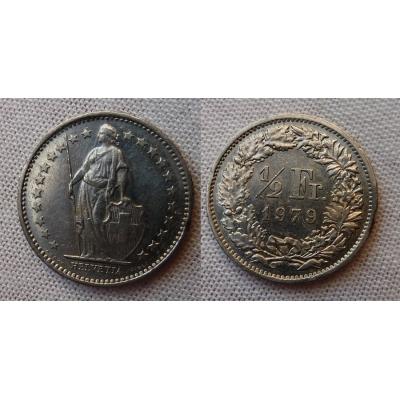 Schweiz - 1/2 Franc 1979