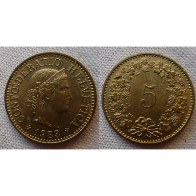 Switzerland - 5 centimes 1983